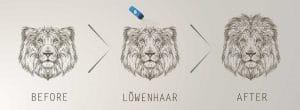 Löwenhaar Schütthaar vorher nachher
